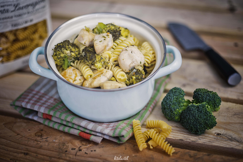 Pasta mit Broccoli und Poulet
