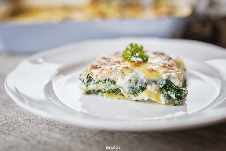 Lasagne mit Lachs und Spinat-1