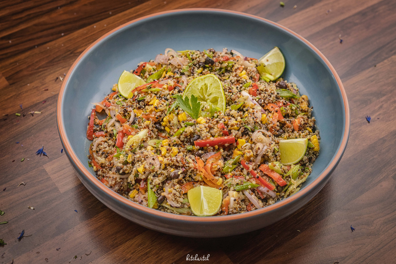 Power Quinoa Salat mit Mais-3