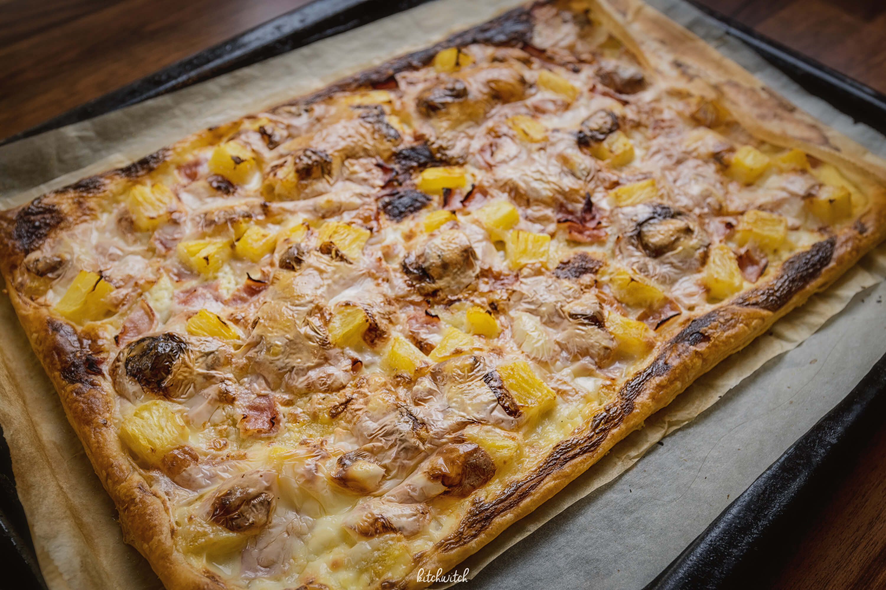 Toast-Hawaii Flammkuchen-1