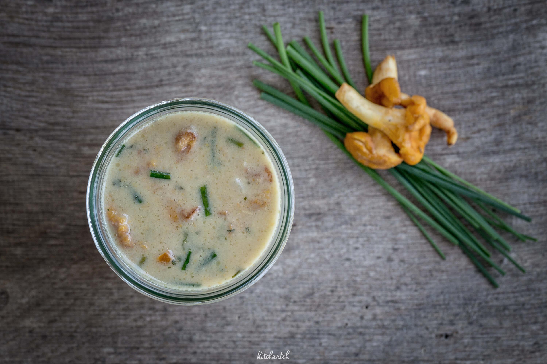 Eierschwämmchen Suppe