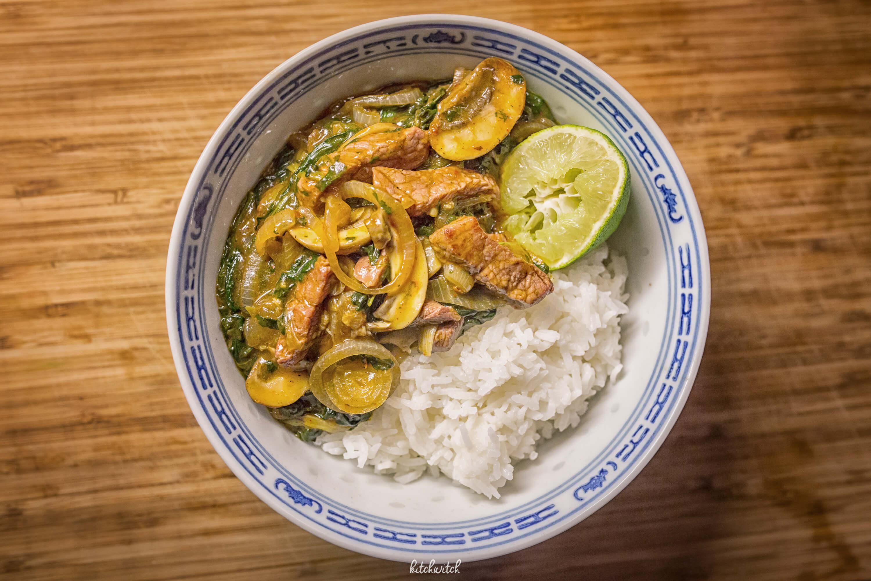 Rindfleisch und Spinat aus dem Wok-2