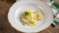 Ravioli mit Champignonsfüllung und Sauce-2