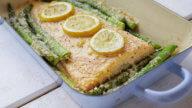 Lachs mit Spargel aus dem Ofen-1