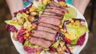 Grill-Salat mit Entrecote-1