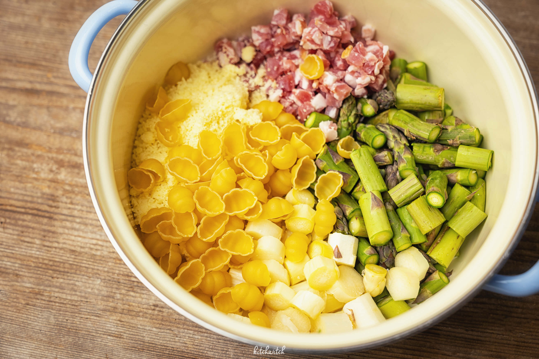 One Pot Pasta mit Spargel und Speck-4