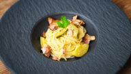 Pasta mit Speck und Zuccini-1