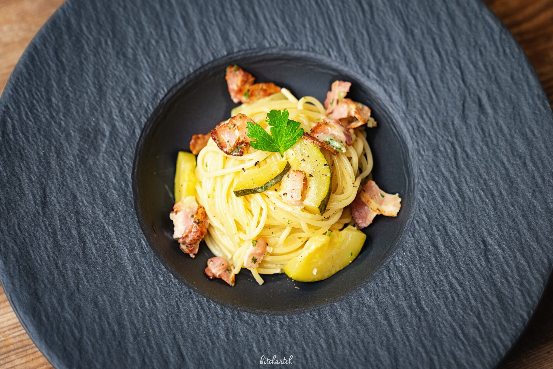 Pasta mit Speck und Zuccini-2