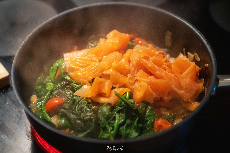 Lachs Spinat Spaghetti-1